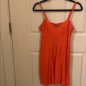 Bright Orange Dress by Express